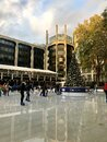 LONDON,UK-NOVEMBER 29: Skaters Beating the Winter Blues at the Annual Christmas Ice Rink at the Famous Natural History Royalty Free Stock Photo
