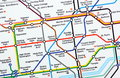 London Underground Map Royalty Free Stock Photography