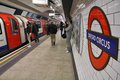 London underground may travelers hurry at oxford circus station on may in is the th busiest metro system Stock Photos