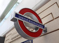 London underground sign wall Royalty Free Stock Photography