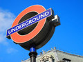 London underground tube station sign, London, UK. Royalty Free Stock Photo