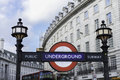 London underground united kingdom march an subway station entrance at piccadilly circus in uk the the Royalty Free Stock Photos