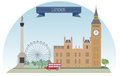 London united kingdom vector for you design Stock Image