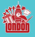 London vector illustration of the Royalty Free Stock Images