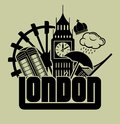 London vector illustration of the Stock Photo