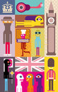 London vector illustration art composition Stock Image