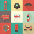 London vintage icons this is file of eps format Royalty Free Stock Images