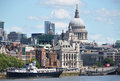 London from waterloo bridge the Royalty Free Stock Photos