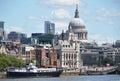 London from waterloo bridge the Royalty Free Stock Photos