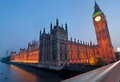 London Westminster and Big Ben Stock Photo