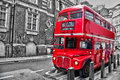 Londoner red double decker vintage bus Royalty Free Stock Photo