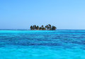 Lone island in the ocean belize Stock Photo