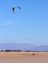 Lone kitesurfer Stock Images