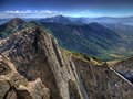 Lone Peak Summit Royalty Free Stock Photos