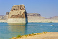 Lone Rock in Lake Powell, Page, Arizona Royalty Free Stock Photos