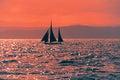 Lone sailor a on the high seas queensland australia Stock Image