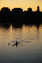 Lone sculler Royalty Free Stock Photo