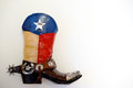 Lone Star cowboy boot Royalty Free Stock Photo