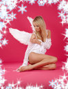 Lonely angel Royalty Free Stock Photo