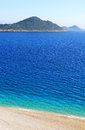 Lonely beach, Mediterranean coast Stock Image