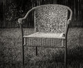 Lonely chair empty in the yard Royalty Free Stock Image