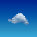 Lonely cloud blue sky with Royalty Free Stock Photography