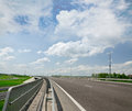 Lonely highway a new road kiev chop linking europe with asia Stock Photo
