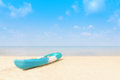 Lonely kayak boat on a tropical beach thailand summer trav travel vacation and holiday concept Stock Images