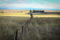 Lonely meadows and farm house in an Australian landscape Royalty Free Stock Photo