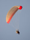 Lonely paraglider in the sky Royalty Free Stock Photo