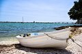 The lonely rowboat small sarasota fl Royalty Free Stock Photo