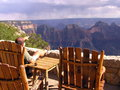 Lonely tourist looking at grand canyon north rim this northern arizona national park has earned its rightful place as one of the Royalty Free Stock Photo