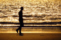 Lonely Walk Royalty Free Stock Photo