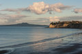 Long Bay and Rangitoto Island Royalty Free Stock Photo