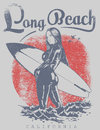 Long beach Royaltyfri Bild