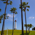 Long beach california shoreline park lighthouse usa Royalty Free Stock Photo