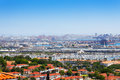 Long Beach city, marina and shipping port, USA Royalty Free Stock Photo