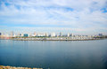 Long Beach Skyline, California Stock Images