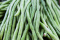 Long beans in the thai market Royalty Free Stock Photography