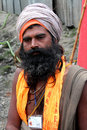 A long beard Sadhu Baba Royalty Free Stock Photos