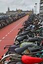 The long bike parking Royalty Free Stock Image