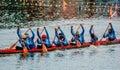 Long boat het rennen Royalty-vrije Stock Foto's