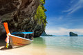 Long boat in Thailand Stock Photography