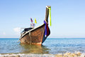Long boat in thailand tropical beach Royalty Free Stock Photo