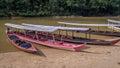 Long boats in rainforest in Taman Negara, Malaysia