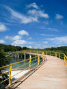 Long bridge in roatan honduras Stock Image