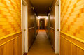 Long building hallway apartment condominium hotel commercial Stock Images