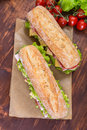 Long Ciabatta Sandwiches Royalty Free Stock Photo