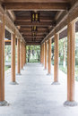 Long colonnade this photo was taken in west lake cultural landscape of hangzhou zhejiang province china Stock Photography
