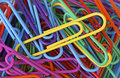 Long Colored Paper Clips Stock Photos